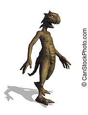 Little Reptilian Alien