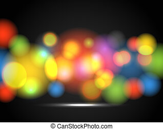 Abstract background of glowing color circles