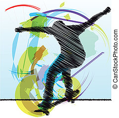 Skater illustration Vector illustration