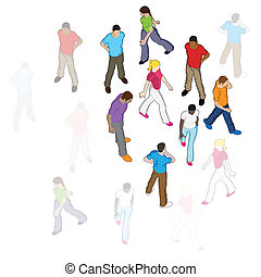 Vector People Walking
