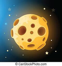 Vector Moon Rock! Vector illustration.
