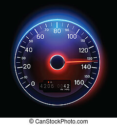 Vector Speedometer - A vector Speedometer illustration...