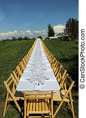 Formal table set outside - Beautiful table set for a formal...