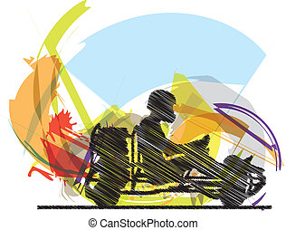 Kart race Vector illustration