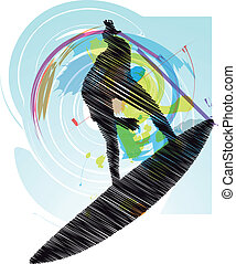Surf Vector illustration