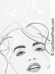 Fashion hairstyle. Banner. Vector illustration