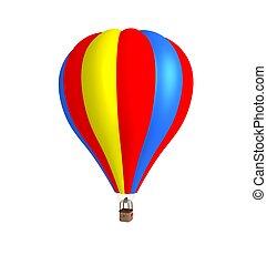 3d hot air balloon.