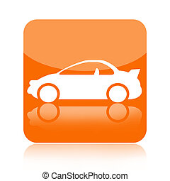 Sport car icon isolated on white background