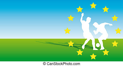 Euro2008 - Abstract vector illustration of two soccerplayers