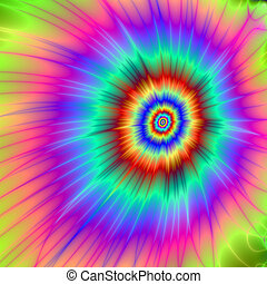 Tie dye Color Explosion - Digital abstract image with a...