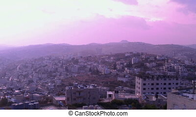Sunrise in Bethlehem, Palestine, time lapse - Sun is rising...