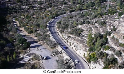 Mountain road in Israel time lapse - Mountain road in Israel...