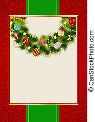 Abstract beauty Christmas and New Year invitation background...