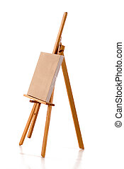 Easel - Blank linen canvas for painting on painter\\\'s...