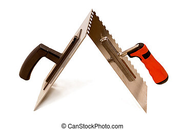 Trowel - Bricklayers trowels, construction equipment on...