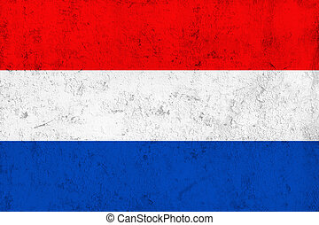 Grunge Netherlands Flag - Grunge Dirty and Weathered...