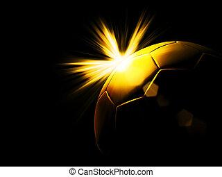 a gold soccer ball