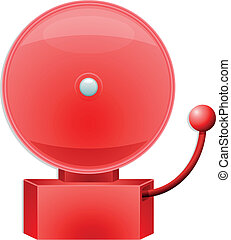 alarm bell - illustration of a red alarm bell