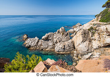 costa brava coast - Coastal landscape on the Costa Brava...