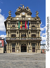 Pamplona city hall, Navarra, Spain