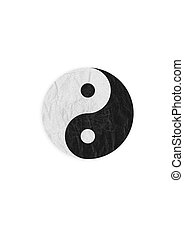 Yin-Yang symbol, create from paper craft