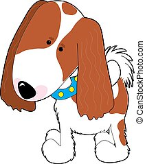 Cavalier King Charles - A cartoon of a Cavalier King Charles...