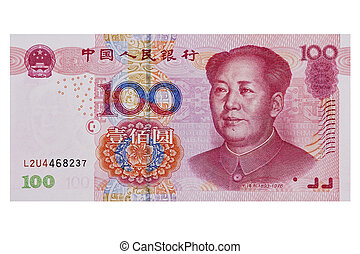 Chinese Yuan - Chinese 100 RMB or Yuan featuring Chairman...