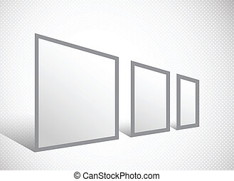 Banner stand in gray color on abstract background