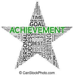Achievement concept in tag cloud - Achievement and success...