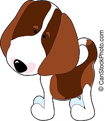 Beagle - A cartoon of a Beagle on a white background