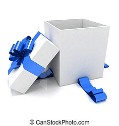 empty box for Christmas gift - illustration of empty box for...