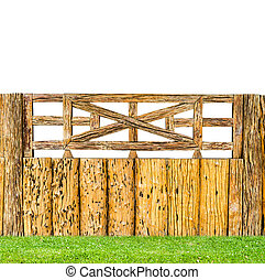 old wooden fence - vintage style decorative old wooden fence...