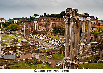Forum Romanum - famous historic Forum Romanum in the centre...