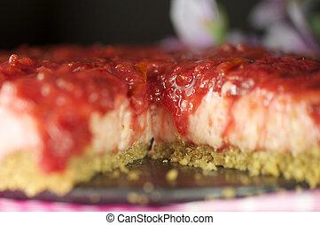 handmade pulm cake - handmande pulm cake shot on a pink...