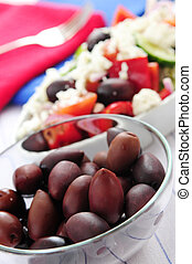 Olives and greek salad