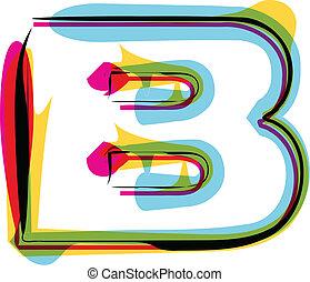 Colorful font Vector illustration