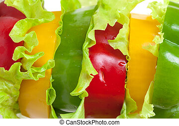 Mixed Bell Pepper with Lettuce - Mixed Bell Pepper,...