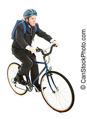 Riding Bicycle to Work