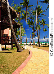 Tropical resort - Luxury hotel at tropical resort on ocean...