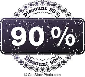 Stamp Discount ninety percent - illustration stamp discount...
