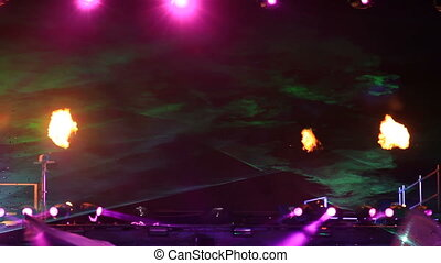 Laser and fire performance - An overwhelming laser and fire...