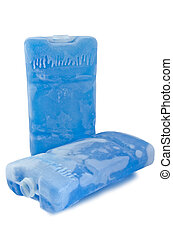 Ice pack - Two ice packs isolated against a white background