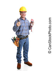 Friendly Electrician Full Body - Friendly electrician in...