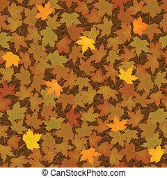 Autumn yellow maple leaf seamless pattern - vector autumn...