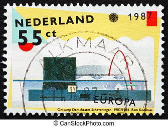 Postage stamp Netherlands 1987 Scheveningen Dance Theater -...