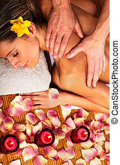 Young woman in Spa massage salon Relax