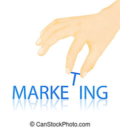 Paper texture ,Hand made marketing word