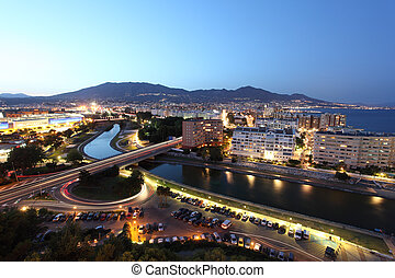 View over the town Fuengirola Costa del Sol, Andalusia Spain...
