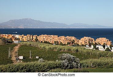 New residential buildings in Castillo La Duquesa, Costa del Sol, Andalusia Spain