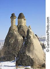 Fairy Chimney on Capadocia Turkey - Rock Formations of...